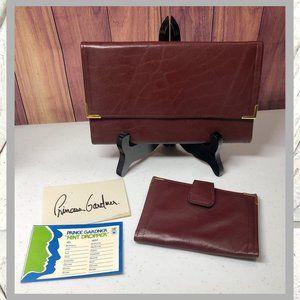 Vntg Princess Gardner Bifold Wallet & Card Holder